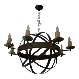 Iron Orb Chandelier