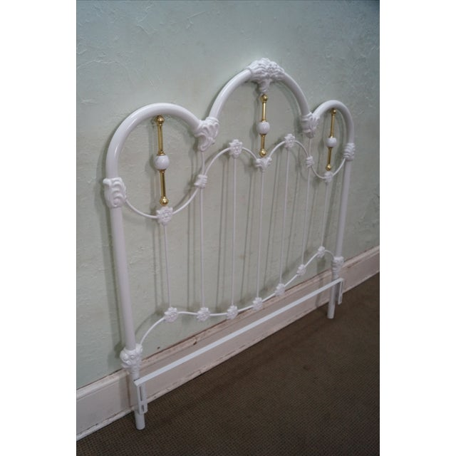 Painted Iron Brass Victorian Full Size Headboard - Image 7 of 10