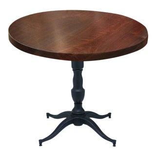Victorian Base Round Walnut Bistro Table