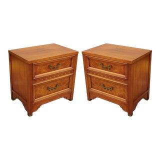 Vintage Mandarin Nightstands - Pair