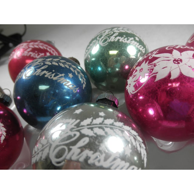 Image of Merry Christmas Stencil Ornaments - Set of 12