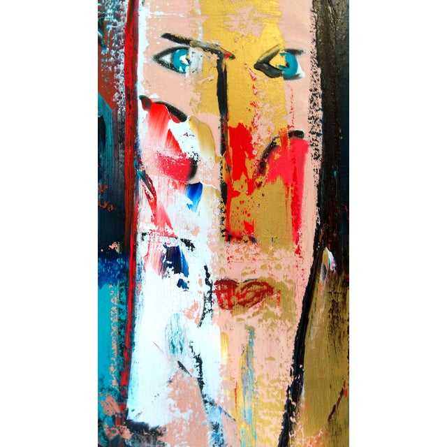 """Image of """"Faces II"""" Abstract Oil Painting by G. Hauswirth"""
