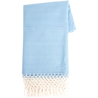 Sky Blue Mexican Throw
