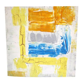 Jensen Modernist Art California Artist Yellow