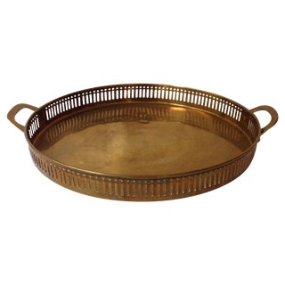 Antique Brass Handled Tray