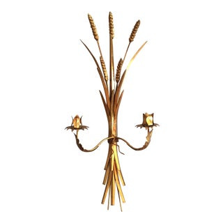 Italian Gilt Told Wheat Sconce