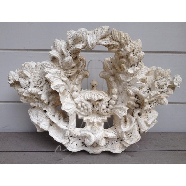 Vintage Carved Tufa Stone Floral Architectural Sculpture - Image 2 of 4