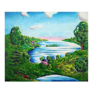 "Eloisa Schwab ""Sunrise on the Horizon"" Landscape Painting"