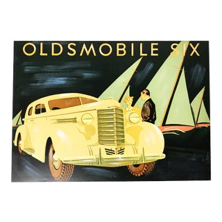 1937 Oldsmobile Brochure Painting