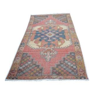 Turkish Antique Wool Rug - 4′4″ × 8′11″