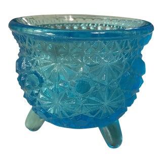 Blue Glass Gypsy Cauldron Candle Holder