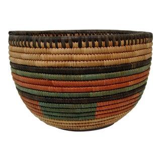 African Woven Fiber Bowl