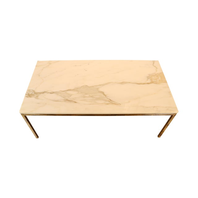 Florence knoll style marble coffee table chairish Florence knoll coffee table