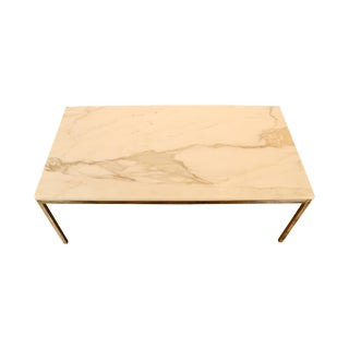 Florence Knoll Style Marble Coffee Table