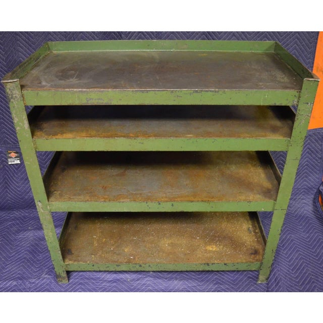 Industrial Steel Cart with Four Shelves - Image 2 of 8