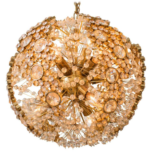 Gilt Brass J.L. Lobmeyr Chandelier - Image 9 of 9