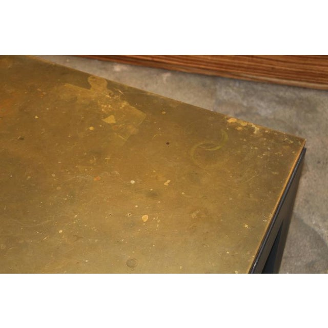 Image of Copper Topped Iron Base Coffee Table