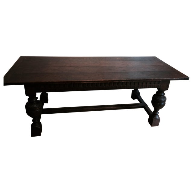 Antique Tudor Table - Image 1 of 9