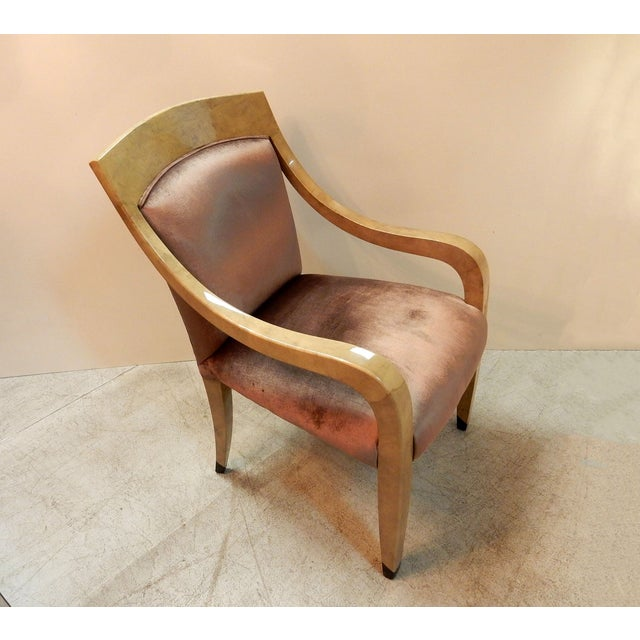 Donghia Goatskin Arm Chairs - Pair - Image 5 of 7