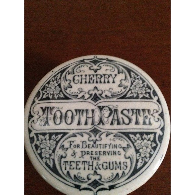 Image of Cherry Victorian Porcelain Toothpaste Container