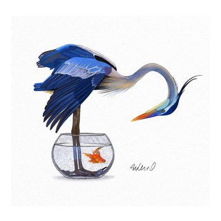 Premium Giclee Print Of the Heron Solution