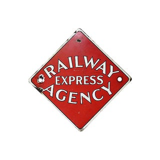 Antique Railway Agency Express Sign