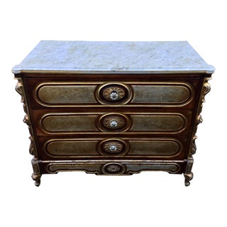 Unusual Antique Baroque Style Chest Of Drawers Commode