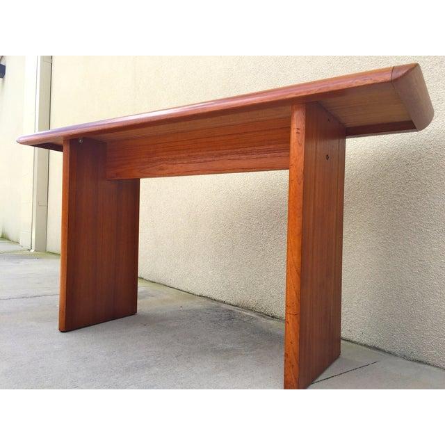 Mid Century Teak Console Table - Image 5 of 11