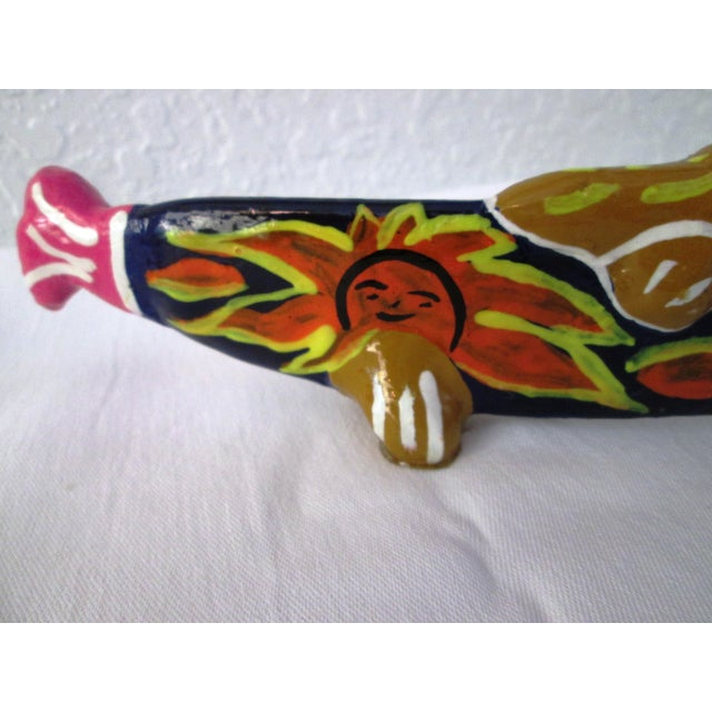 Vintage Mexican Hand Made Maraca Fish - 3 - Image 3 of 7