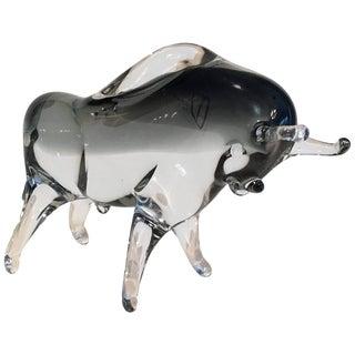 Murano Glass Bull Figure
