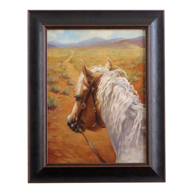 """Ute Simon """"Desert Trail"""" Horse Painting - Image 1 of 7"""