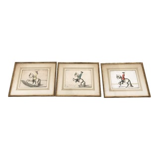 Men on Horses Prints - Set of 3