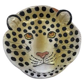 Vintage Italian Leopard Face Dish