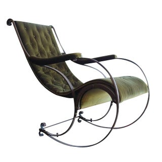 Antique R.W. Winfield Wrought Iron Rocking Chair