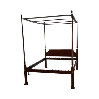 Kindel Queen Size Cherry Poster Canopy Bed