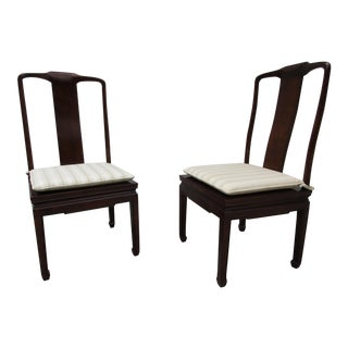 Henredon Chinoisere Style Dining Chairs -A Pair