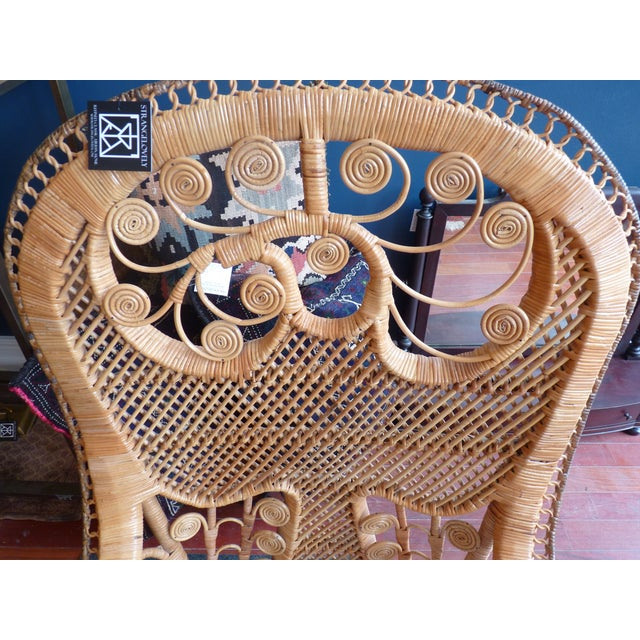 Curly Wicker Throne Chair - Image 4 of 9