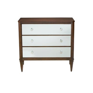 Ethan Allen Contemporary Mirrored Chest