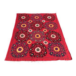 Vintage Red Suzani Bedspread