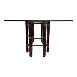 McGuire Bamboo & Glass Table