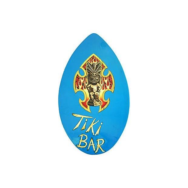 Image of 1970s Surf Board Tiki Bar Sign