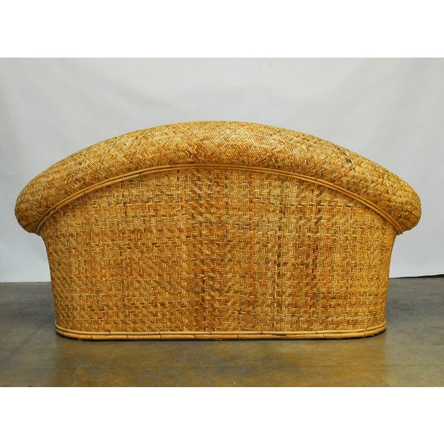 Ralph Lauren 1980 Bamboo Settee - Image 6 of 6