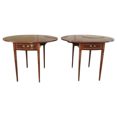 19th century english style pembroke tables a pair chairish for Table th visible