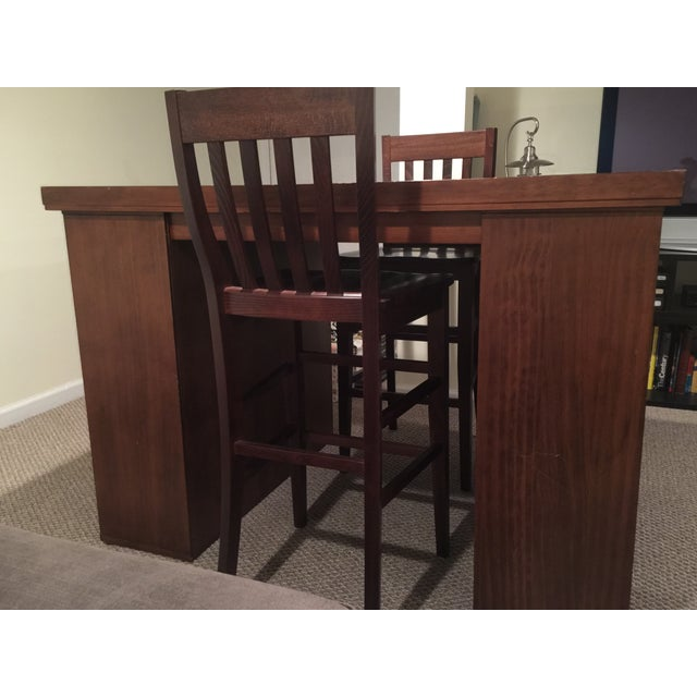 Pottery Barn Project Table & Two Matching Chairs - Image 4 of 8