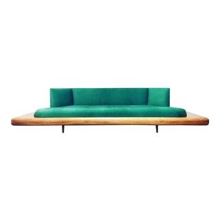 Emerald Green Adrian Pearsall Platform Sofa