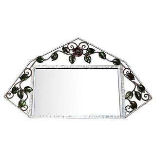 French Iron Art-Deco Mirror