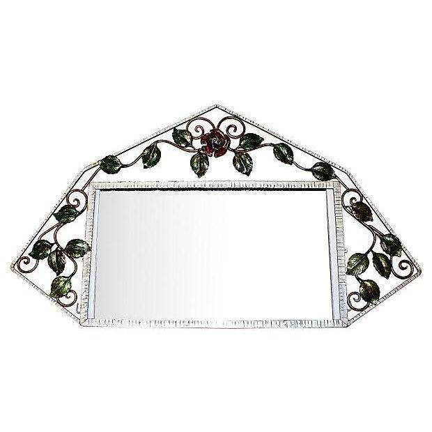 French Iron Art-Deco Mirror - Image 1 of 3