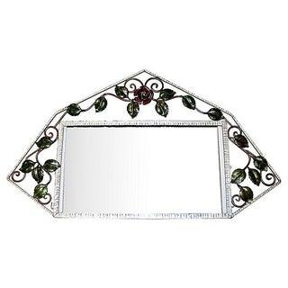 French Iron Art-Deco Mirror