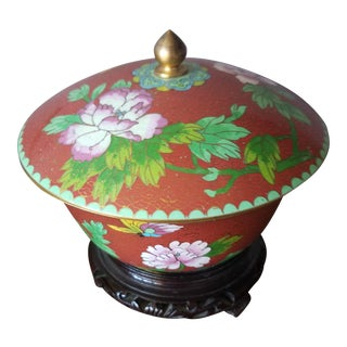 Chinese Cloisonne Bowl on Stand