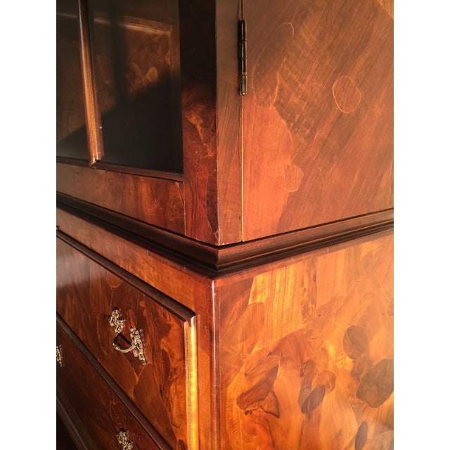Image of Italian Walnut Cabinet With Drawers